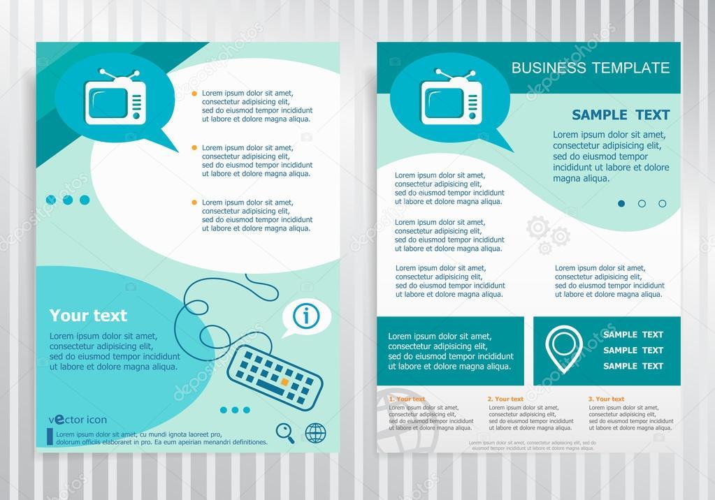 Retro television symbol on vector Brochure Flyer design Layout t
