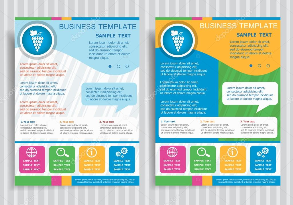 Grape sign on vector Brochure Flyer design Layout template \u2014 Stock