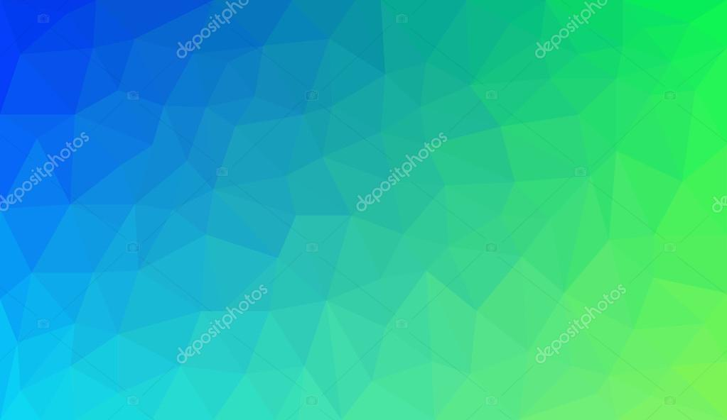 Blue Green Gradient abstract polygon background \u2014 Stock Vector