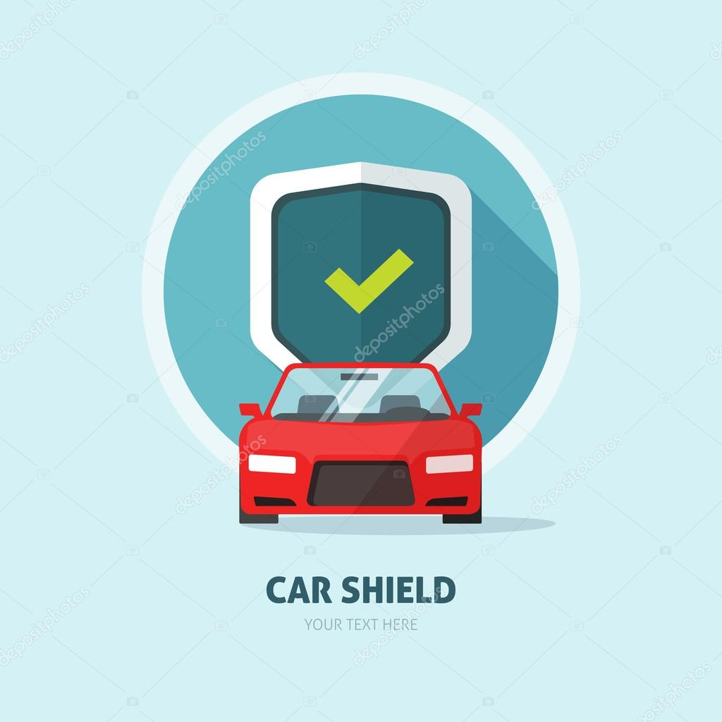 Car Shield Car Guard Protection Shield Sign, Collision Insurance Logo