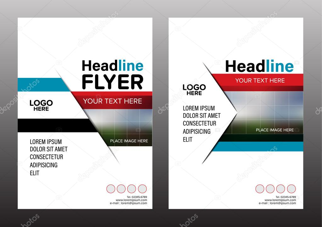 Brochure Layout design template Annual Report Flyer Leaflet cover