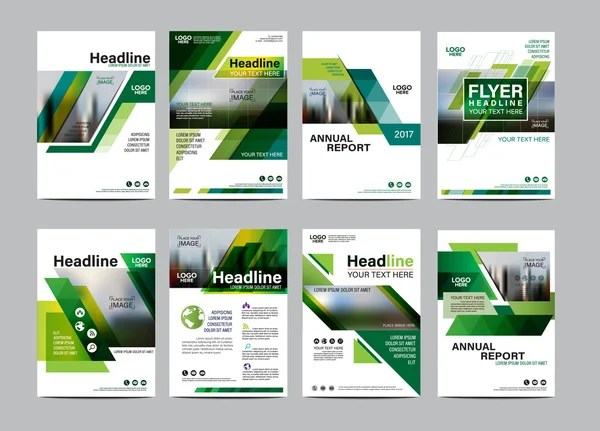 Natural and organic products brochure cover design and flyer layout - flyer layout templates