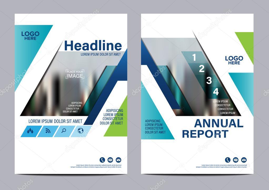 Blue Brochure Layout design template Annual Report Flyer Leaflet