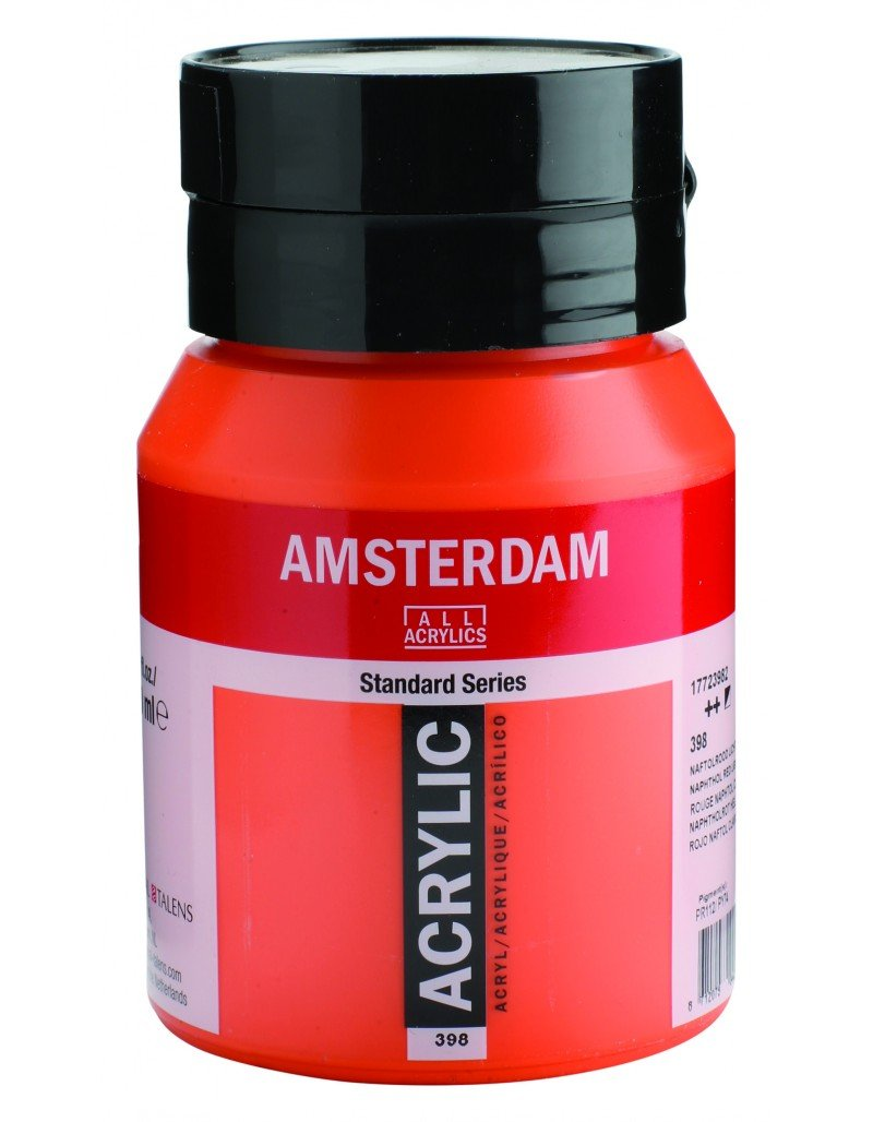 Amsterdam Acrylverf 500 Ml Amsterdam Akrilik Boya 500ml 398 Naphthol Red Light