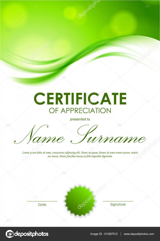 certificate of appreciation template 3