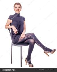woman sitting on chair  Stock Photo  olgasweet #130942182