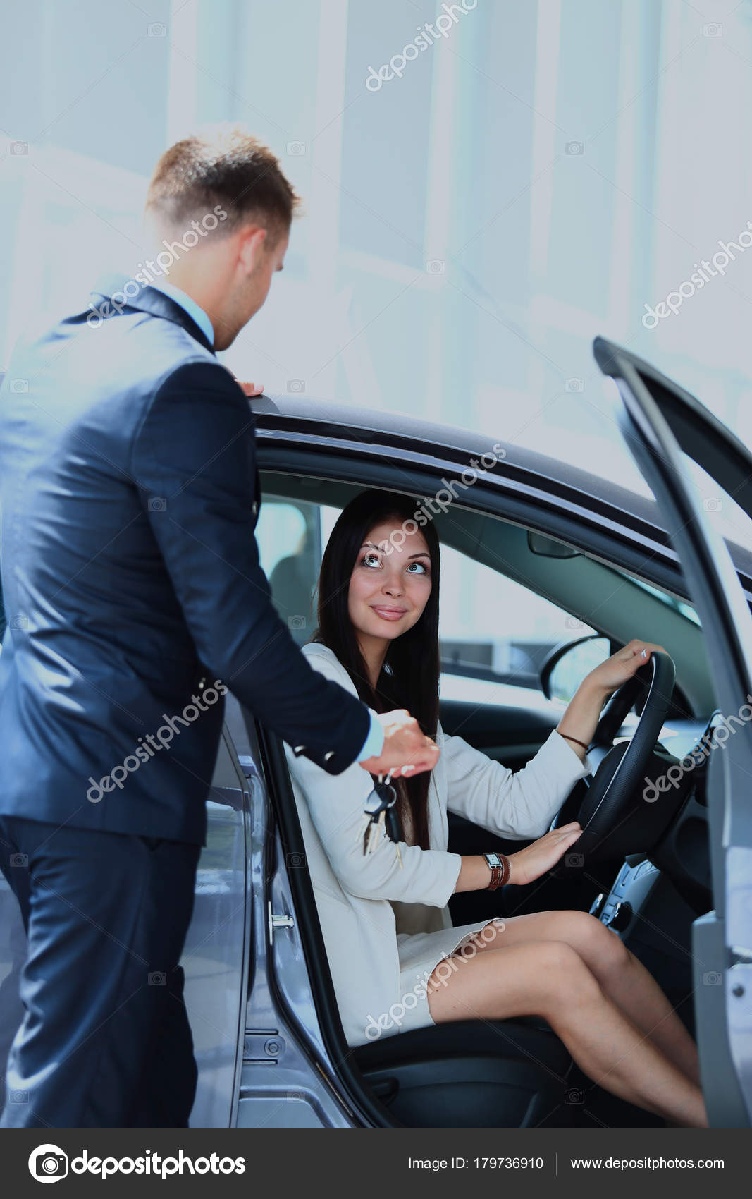 Buying A New Car Woman Buying A New Car Stock Photo Depositedhar 179736910