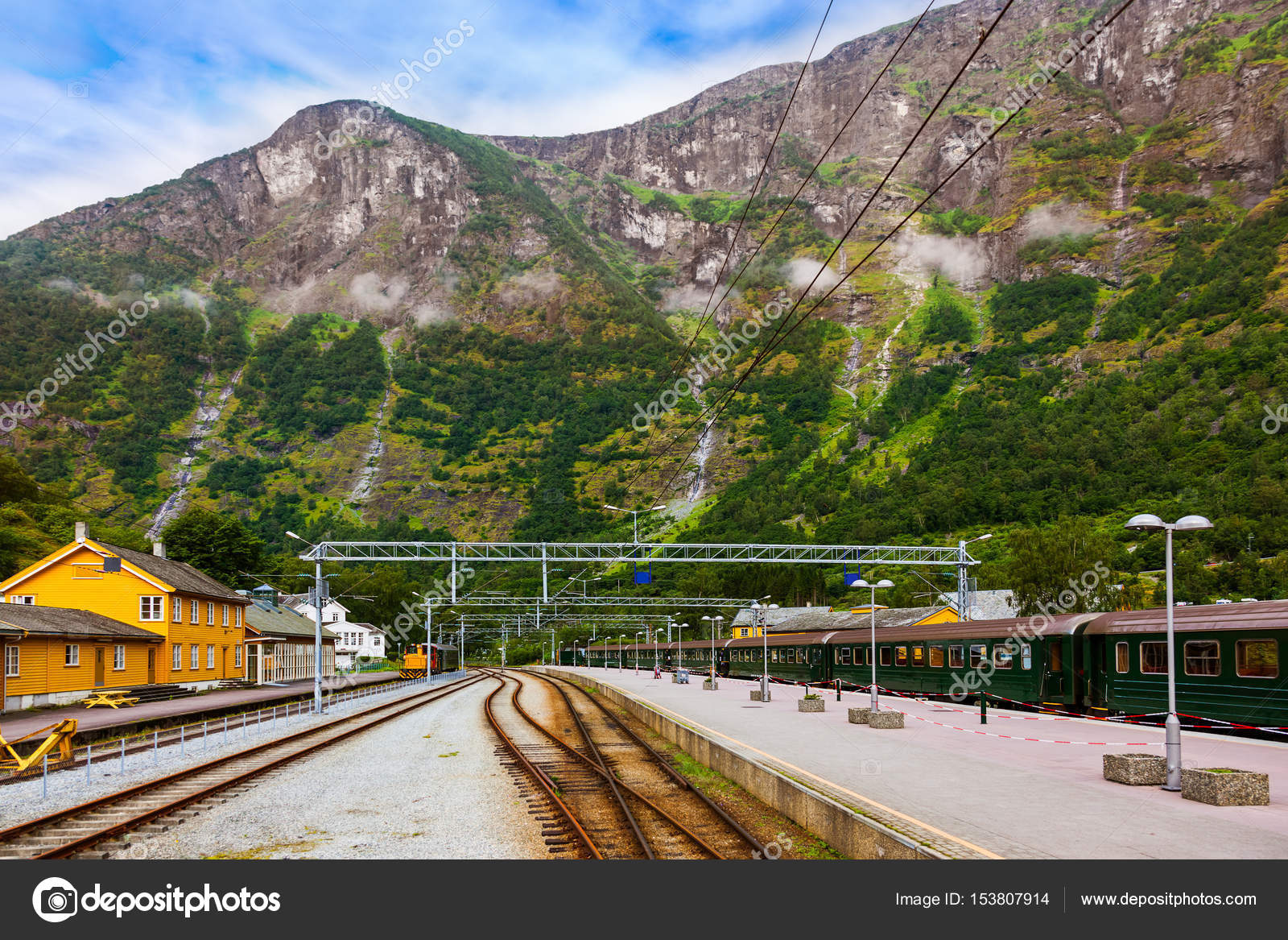 Norway Train Train In Flam Norway Stock Photo Violin 153807914