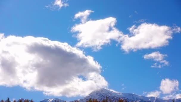 Fondo Nubes Hermosas Vistas Panorámicas Naturaleza \u2014 Vídeo de stock - fondo nubes
