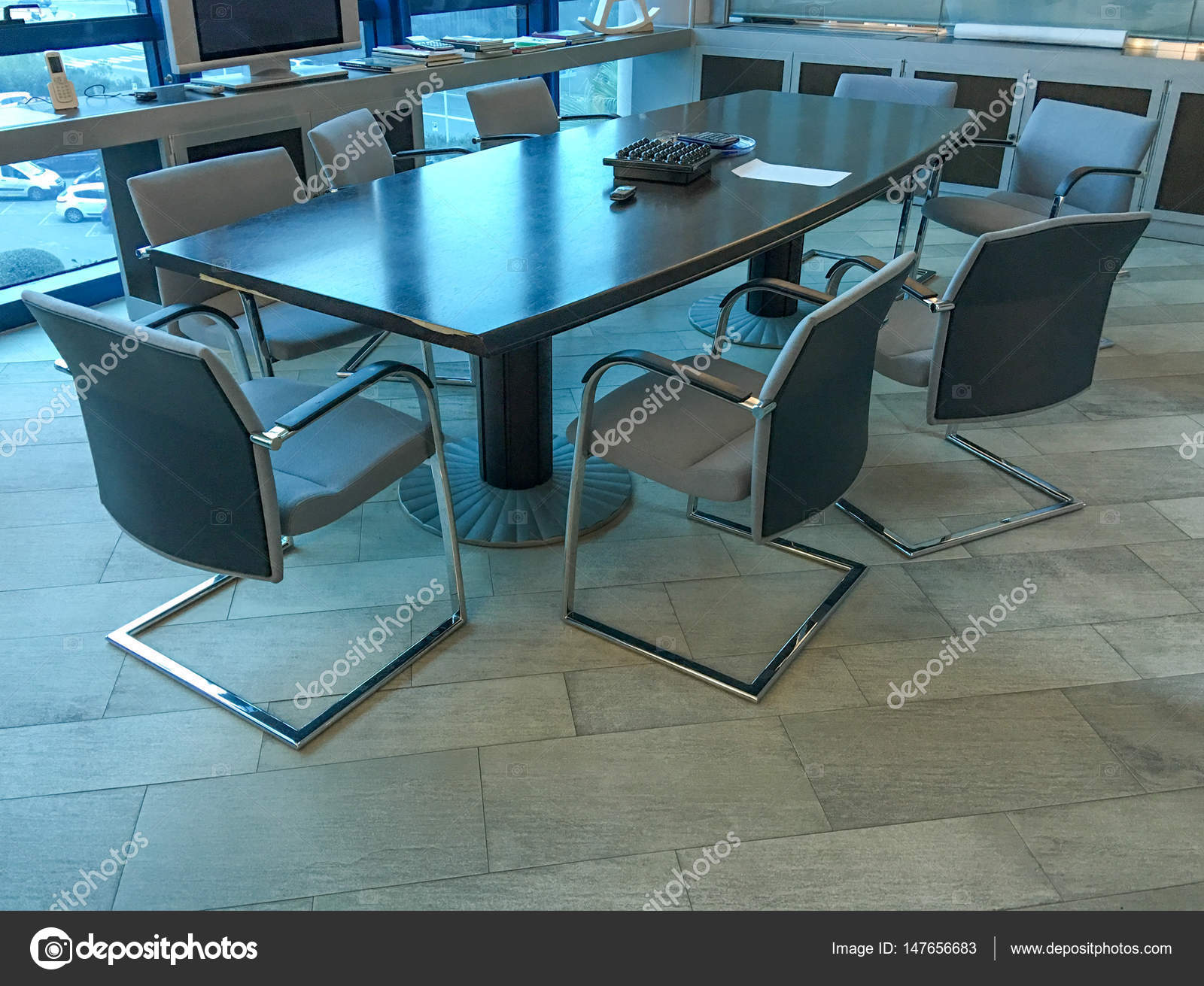Meeting Room Tables Chairs Near A Meeting Room Table Stock Photo Jovannig 147656683
