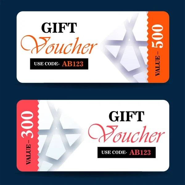 Gift voucher, certificate, discount card, or coupon template - discount coupon template