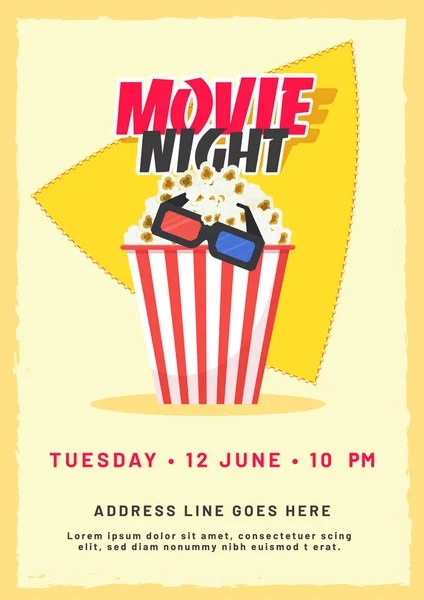 Movie night conceptCreative template for cinema poster, banner