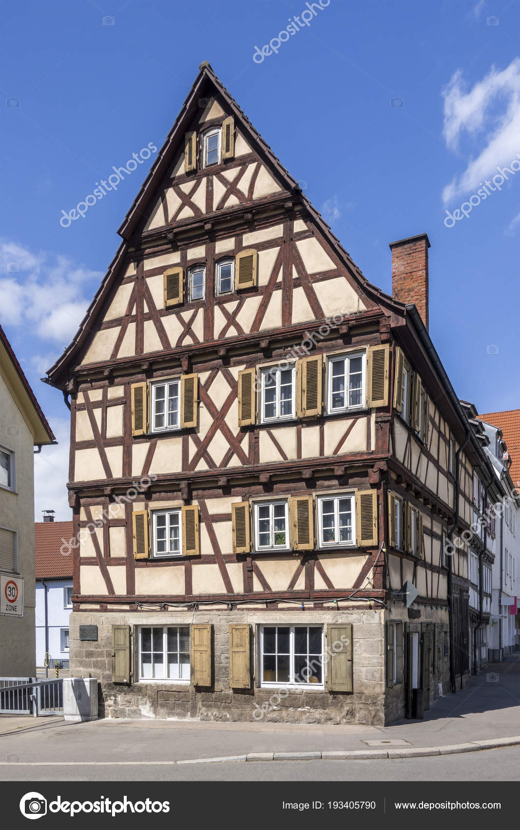 View Timbered House Sindelfingen Germany Stock Photo Image By Magann 193405790