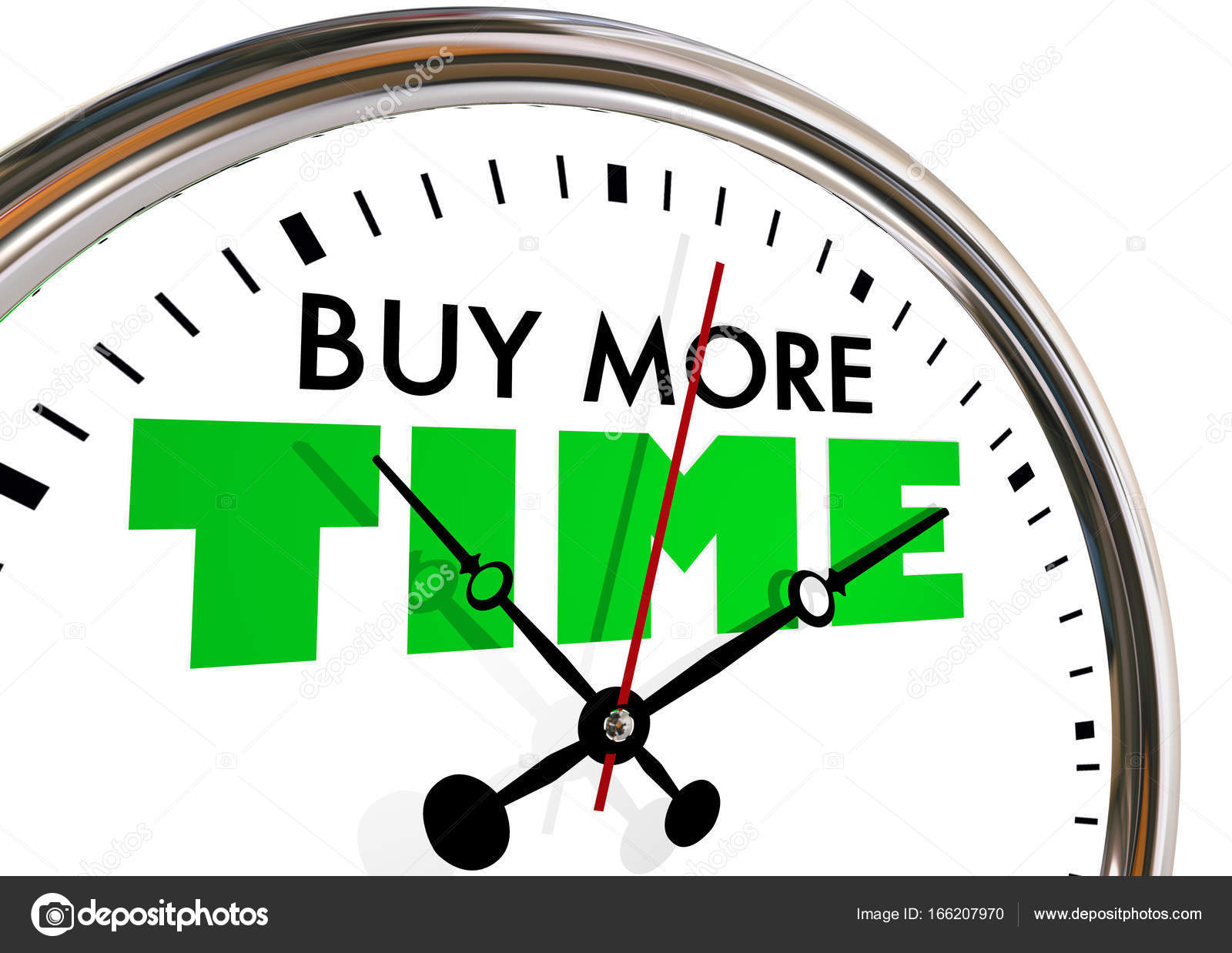 Buy Clock Buy More Time Clock Stock Photo Iqoncept 166207970