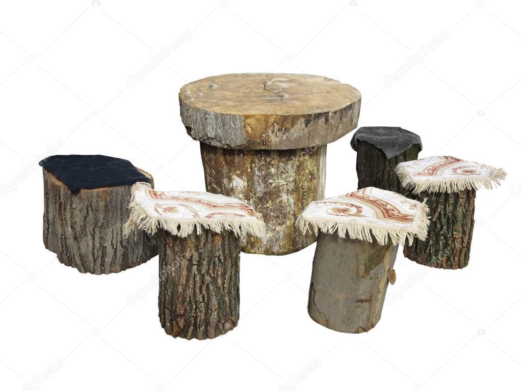Muebles Capitol Garden Furniture Made From Wooden Log Isolated On White Stock