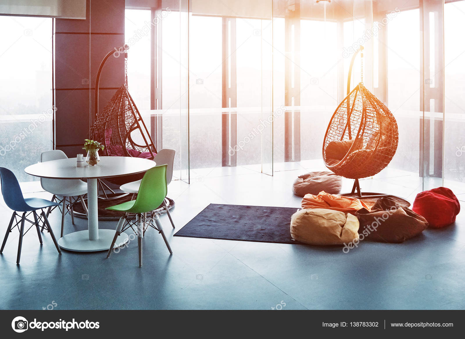 Unusual Living Room Furniture Interior Of Living Room With Unusual Furniture Stock Photo