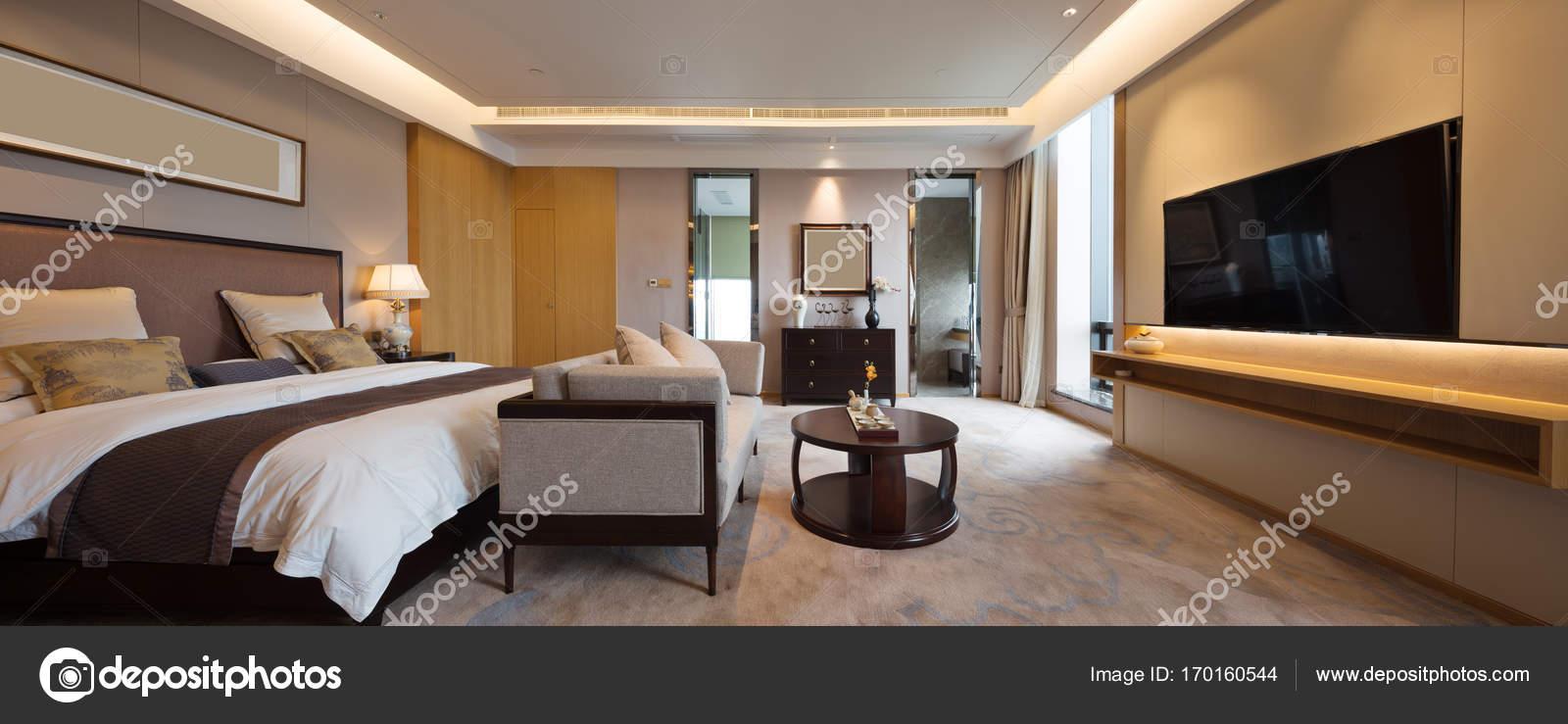 Innere Des Modernen Luxus Schlafzimmer Stockfoto Zhudifeng