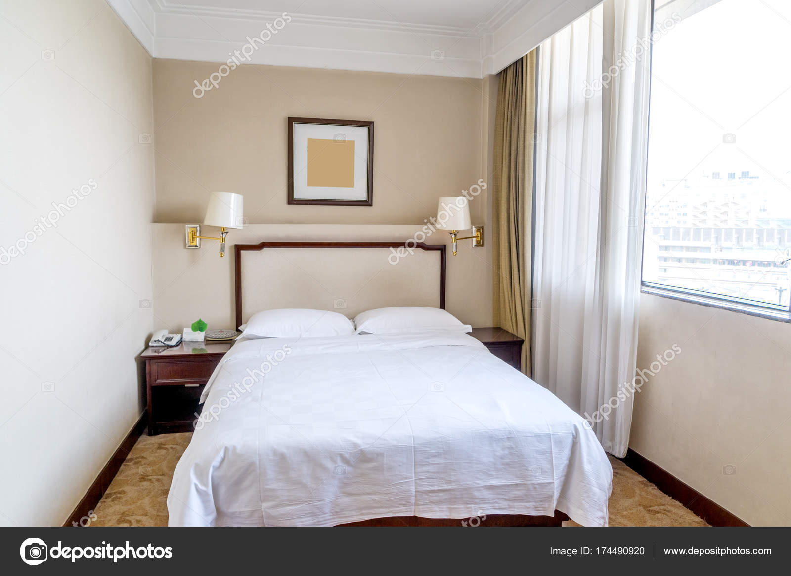 Decoration Hotel Design Decoration Single Bedroom Modern Hotel Stock Photo