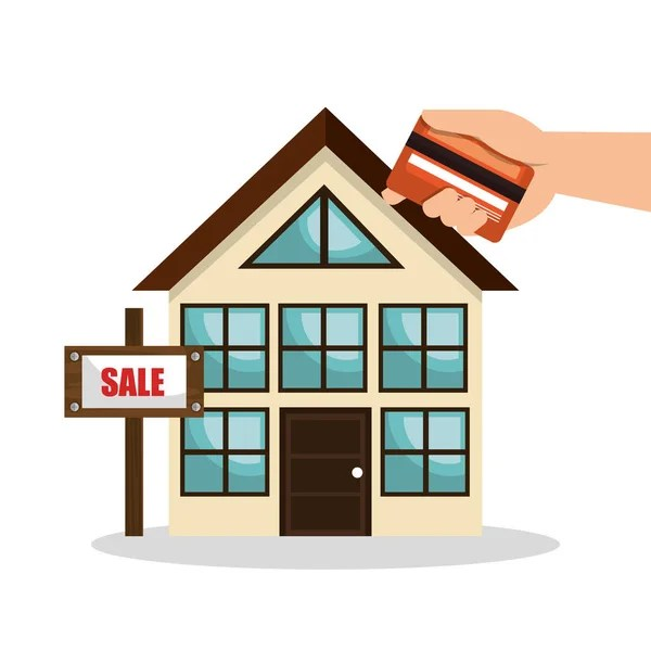 House real estate sell credit card business design u2014 Stock Vector - home design credit card