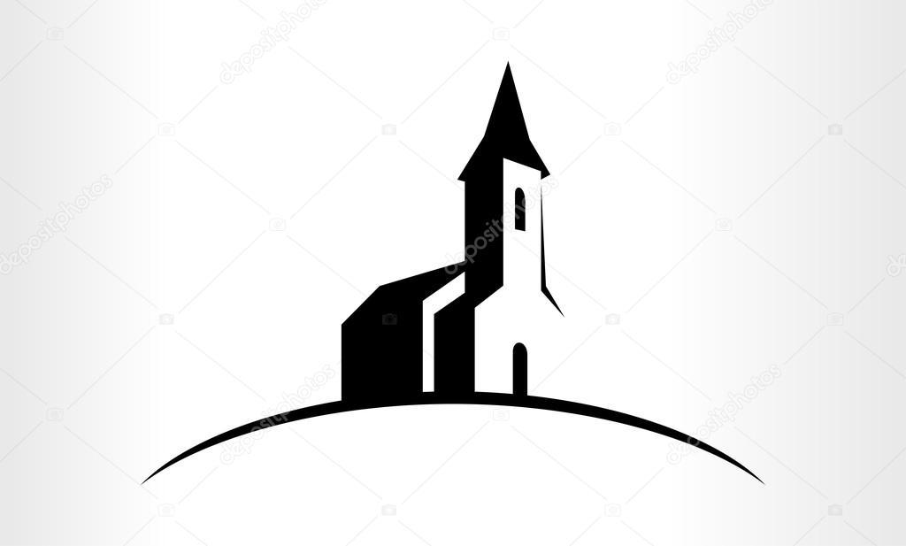 Vector logo of a Church \u2014 Stock Vector © SaveJungle #125106968
