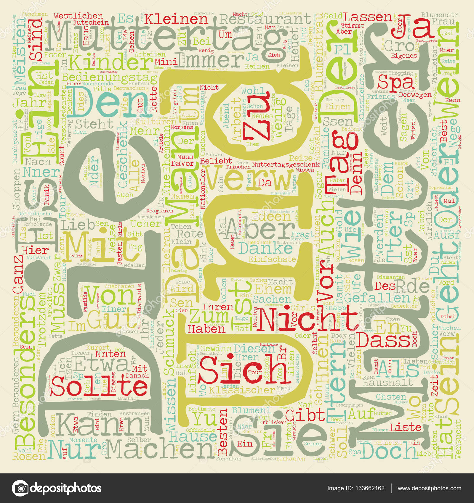 Ideen Mit Fotos Muttertag Geschenke Ideen Text Background Wordcloud Concept