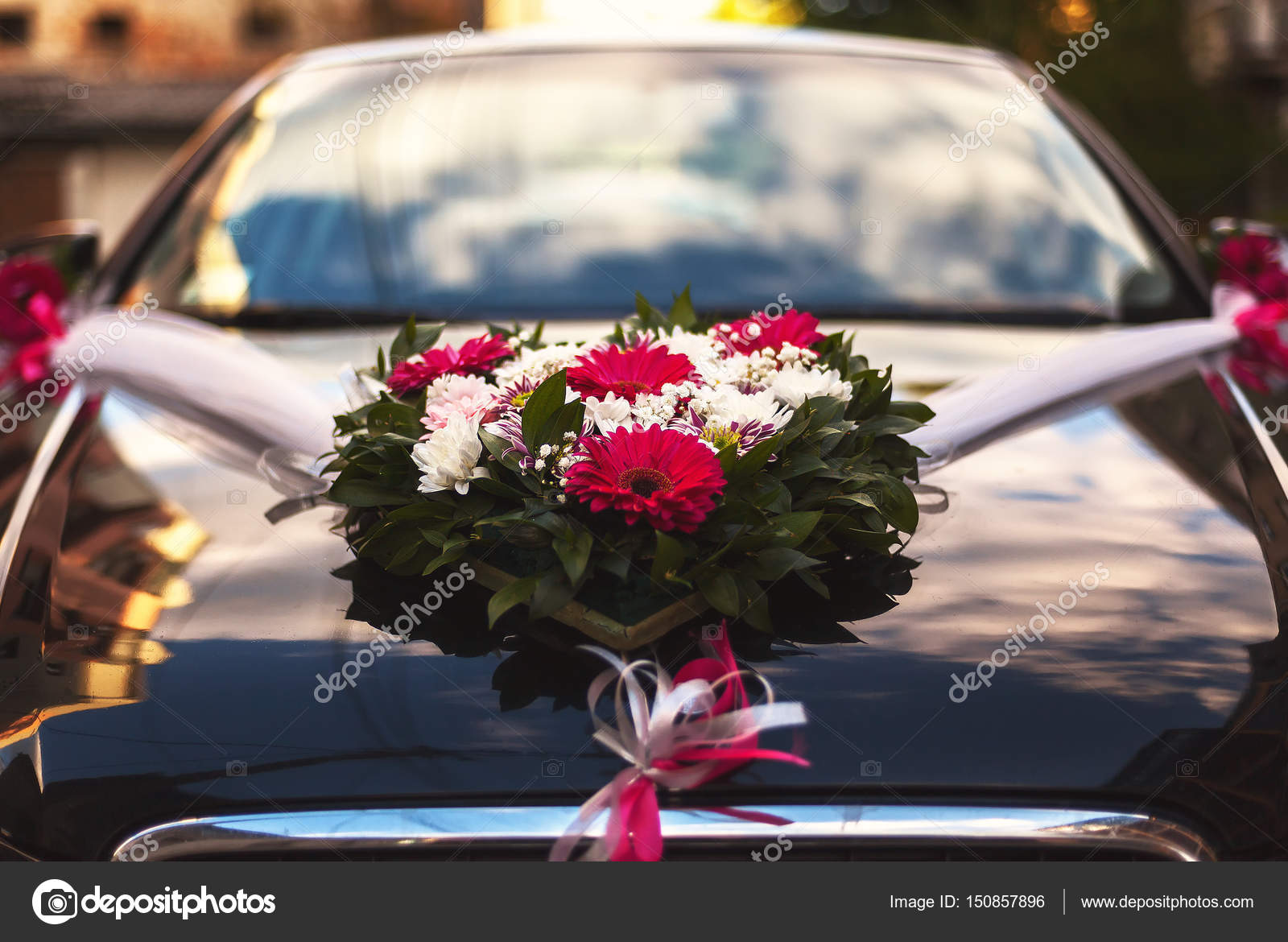 Car Decoration Weding Wedding Car Decoration Stock Photo Krsmanovic 150857896
