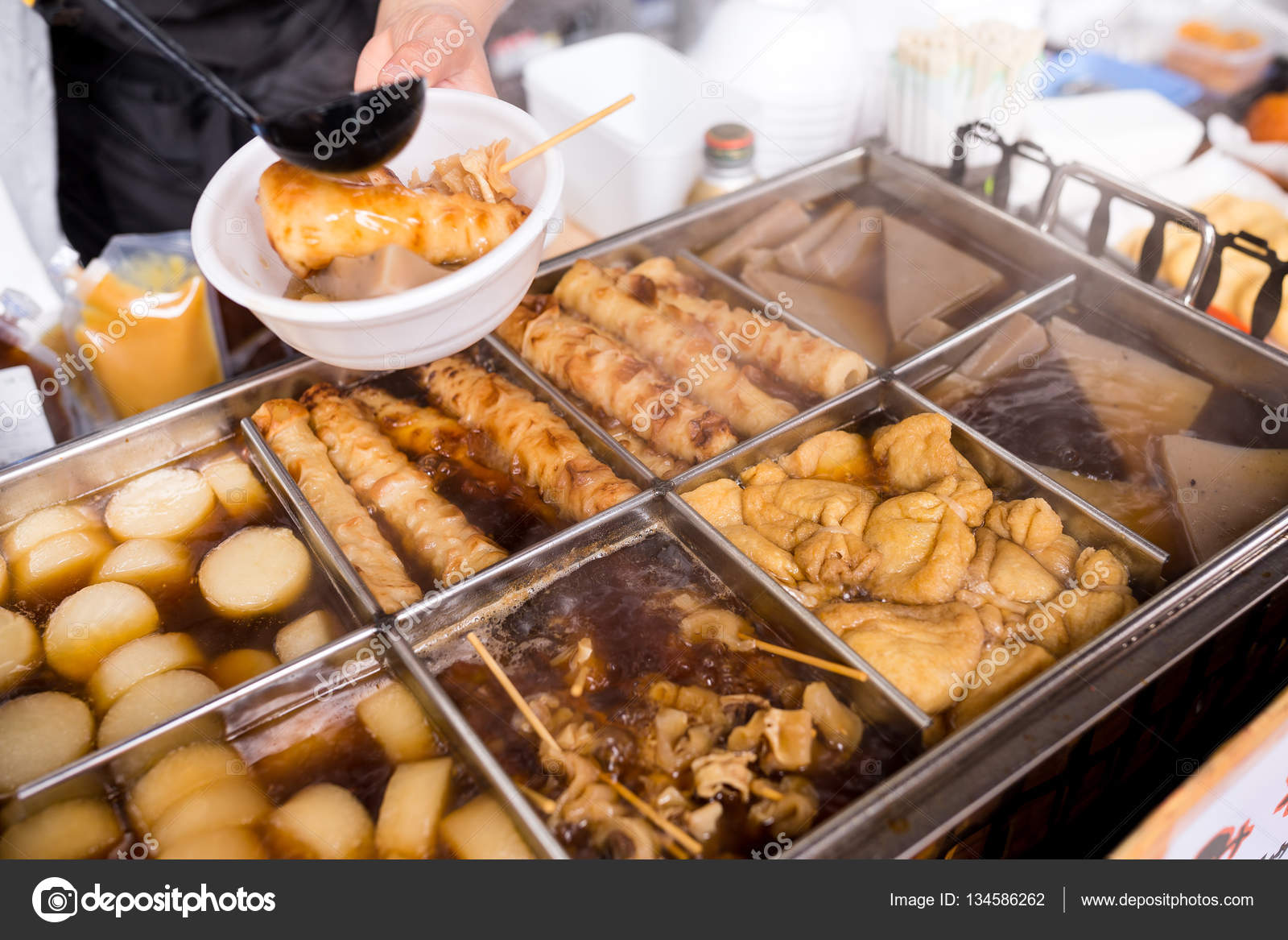 Cucina Giapponese Oden Oden Piatto Giapponese Invernale Foto Stock Leungchopan