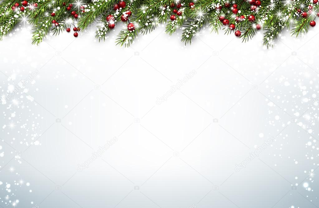 Christmas background with fir branches \u2014 Stock Vector © Maxborovkov