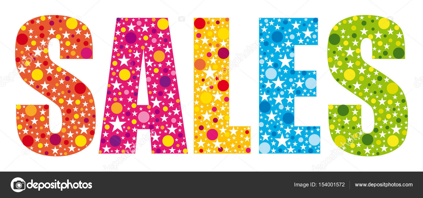Multicolored sales word banner \u2014 Stock Vector © Albachiaraa #154001572 - sales word