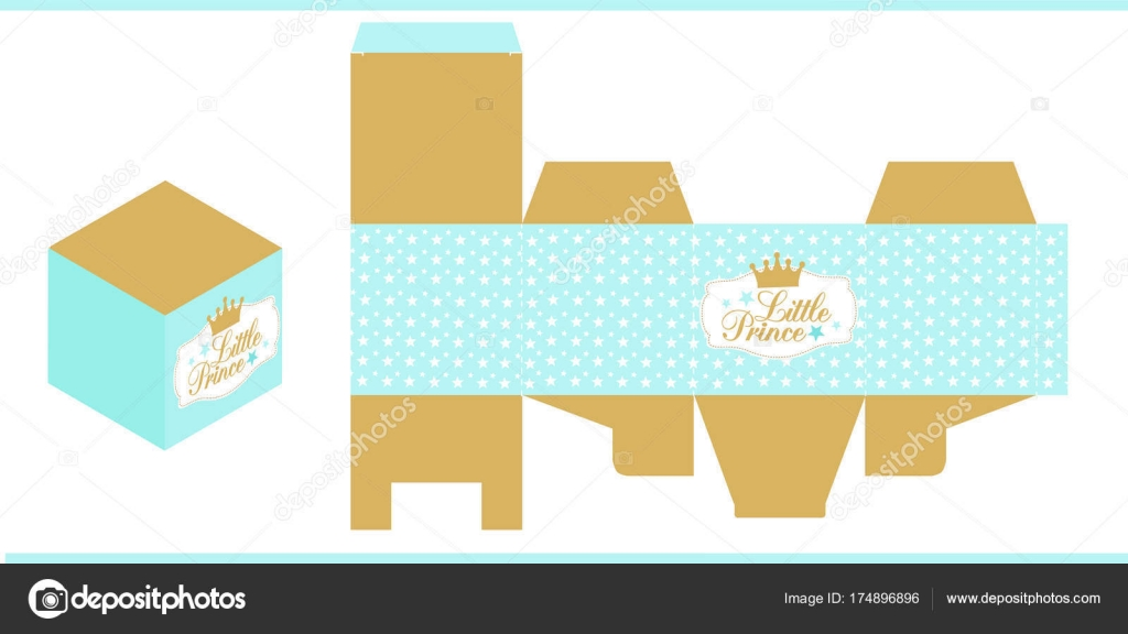 Little Prince Party Printable Template Baby Shower Birthday Die