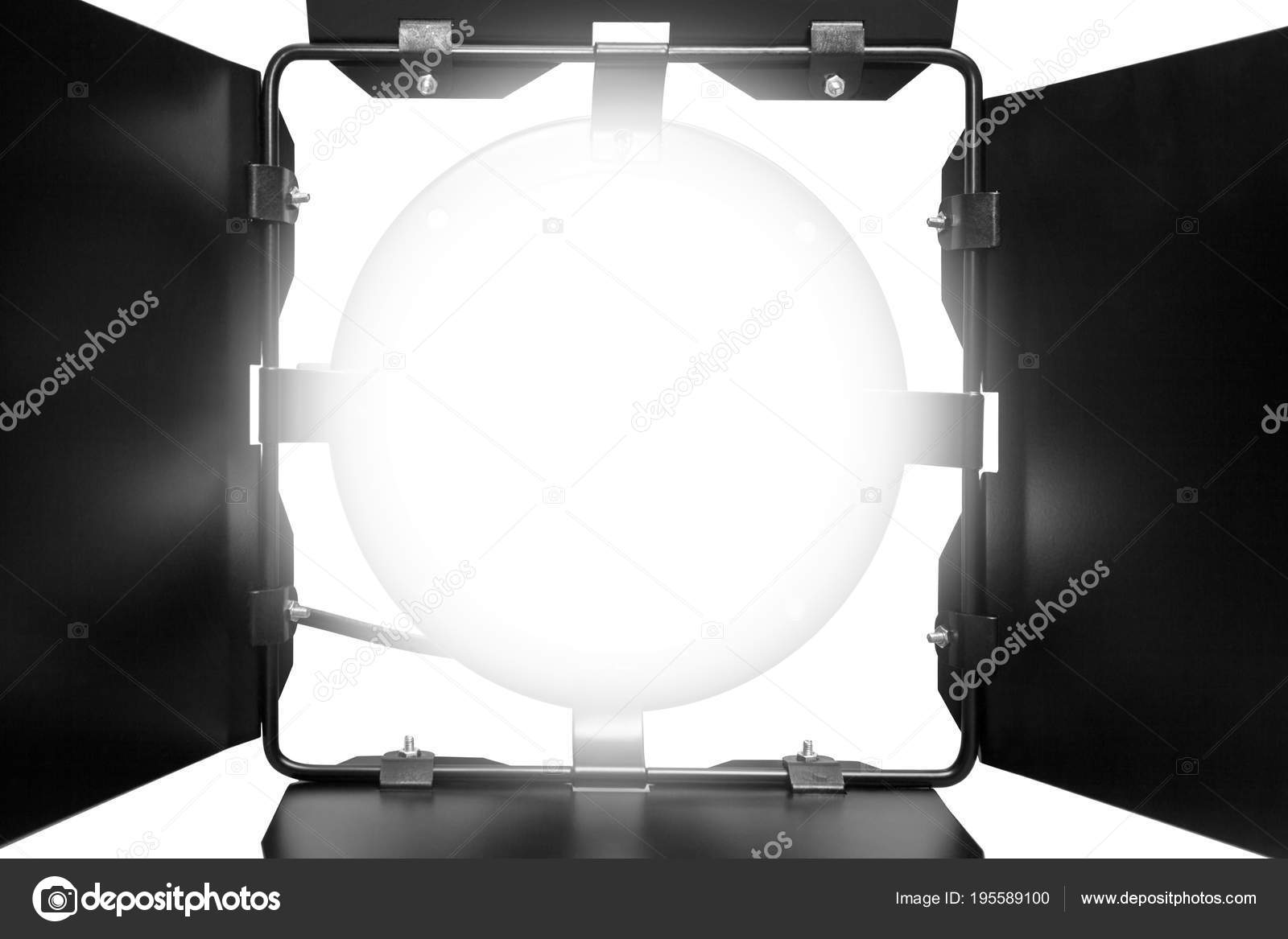 Blinds Spotlight Included Spotlight White Light Blinds Isolated White Background