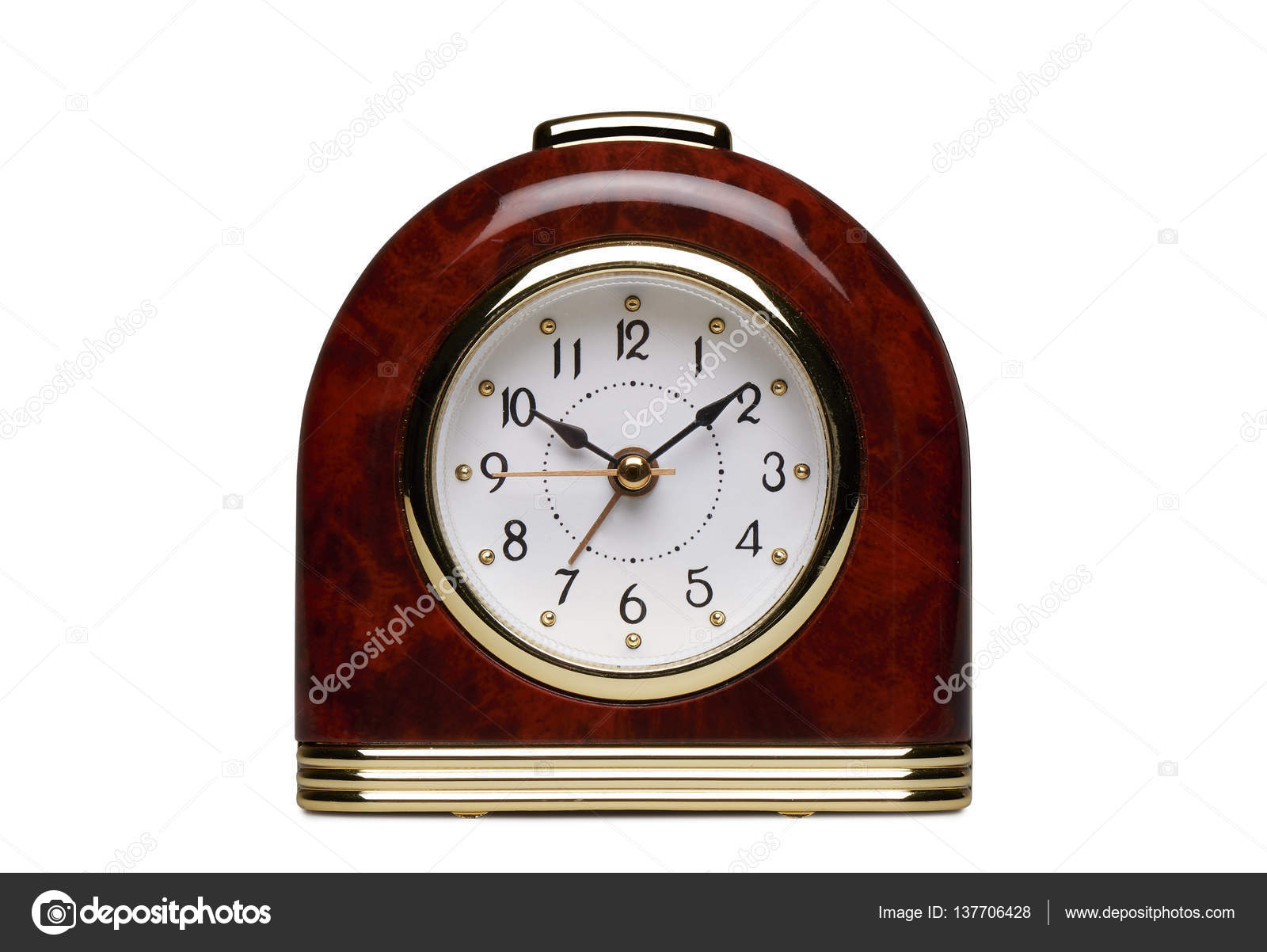 Special Clock Special Juke Box Alarm Clock Isolated On White Stock Photo