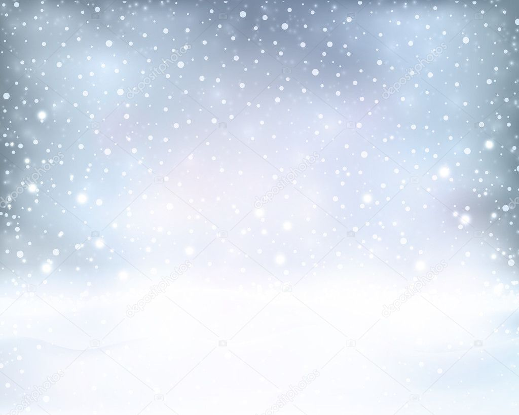 Falling Stars Live Wallpaper Silver Blue Winter Christmas Background With Snowfall