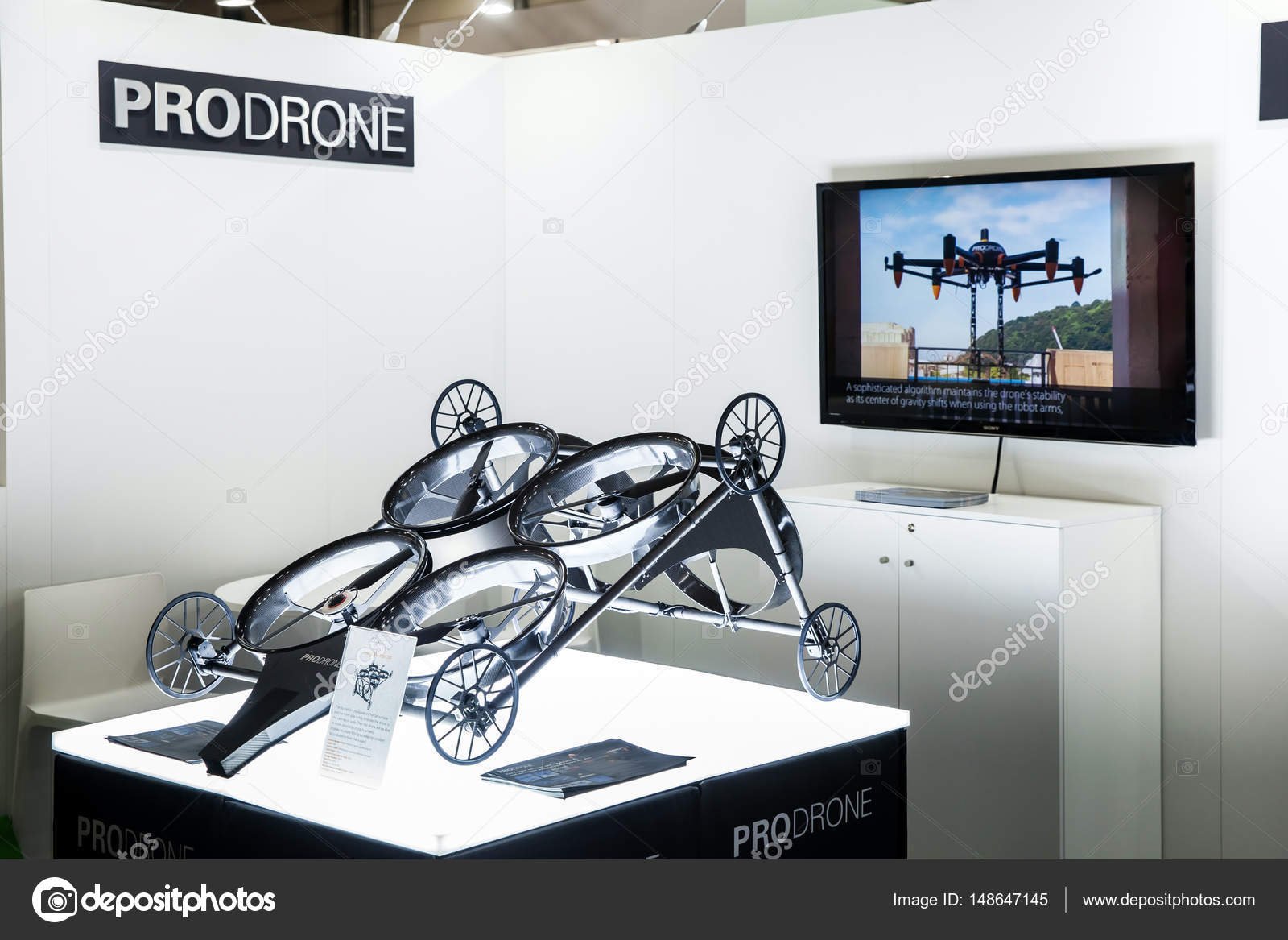 Media Tv Hannover Prodrone Company With Dual Robot Arm Large Drone Participating In