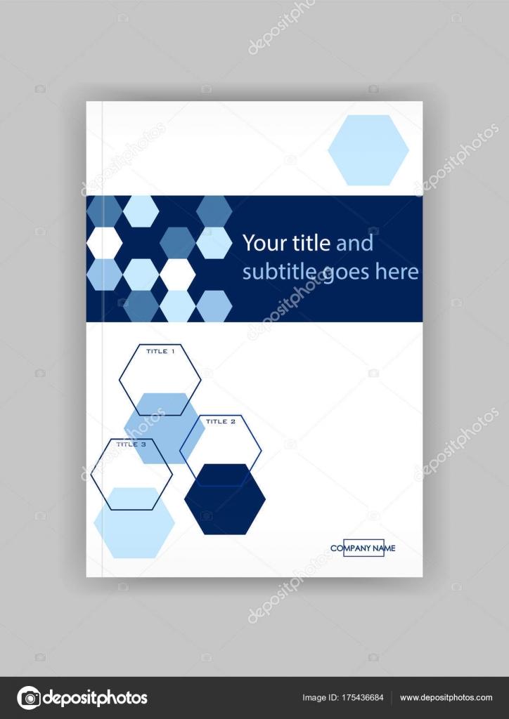 Blue A4 Business Book Cover Design Template Good for Portfolio