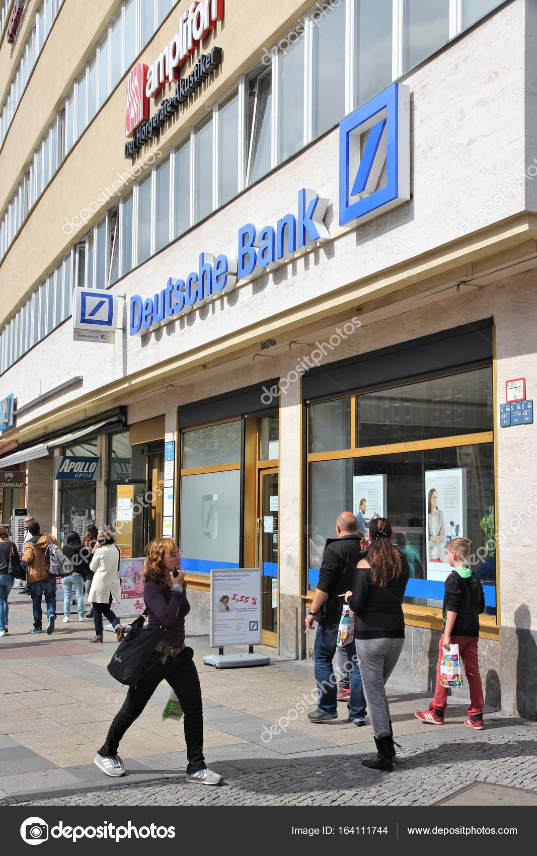 Banken In Duitsland Deutsche Bank Duitsland Redactionele Stockfoto