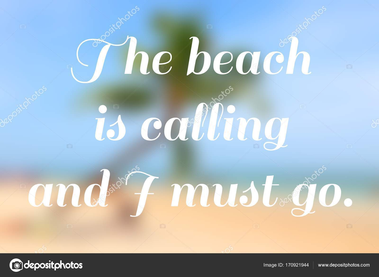 Poster Strand Strand Motivational Poster Stockfoto Tupungato 170921944