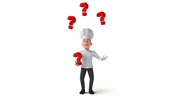 chef character juggling with questions \u2014 Stock Video © julos #169223334