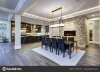 Modern open floor plan dining room design  Stock Photo ...