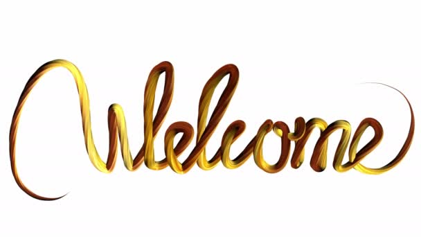 Animation special doodle text effect WELCOME word 4K On a white