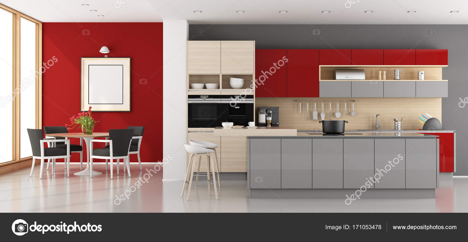 Cucine Moderne Rosse   Cucina Componibile Modello Nita Moderna ...