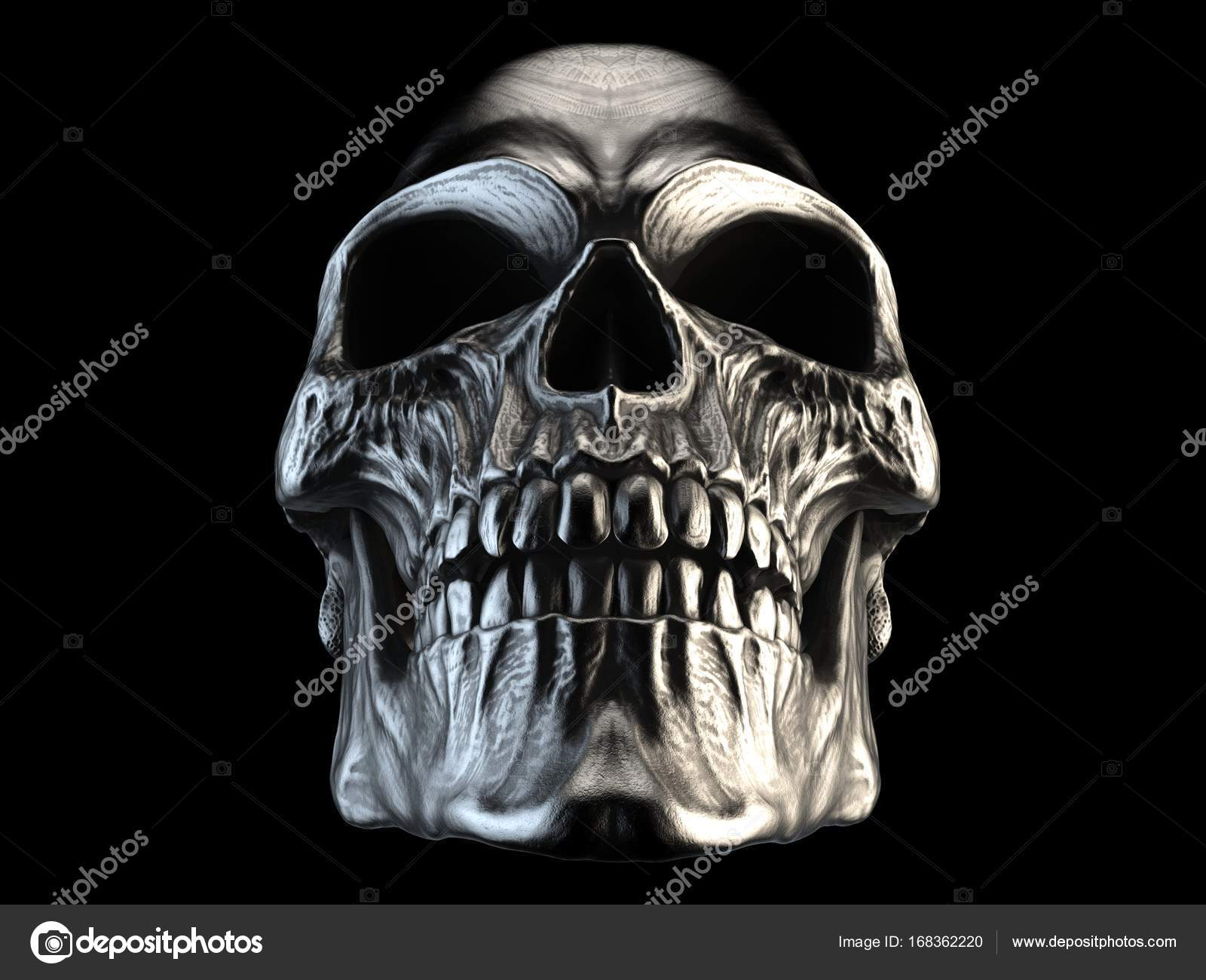On Heavy Metal Horror Silver Heavy Metal Skull Stock Photo Trimitrius 168362220