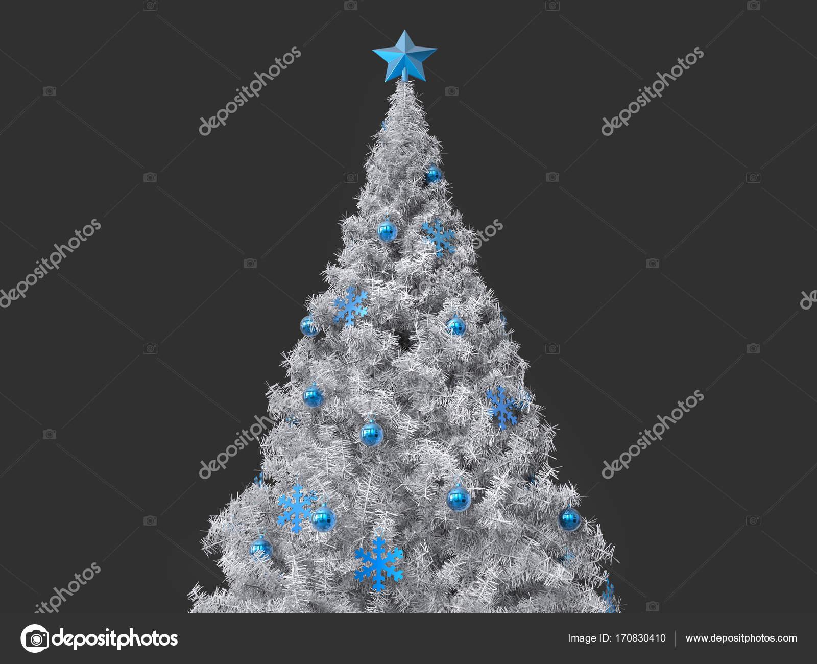 d4f6c72da91 Arboles De Navidad Blanco Con Azul Hermoso árbol De Navidad