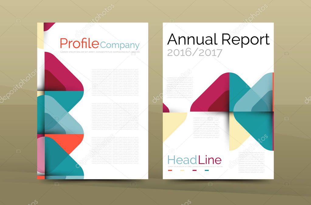 Business company profile brochure template \u2014 Stock Vector © akomov