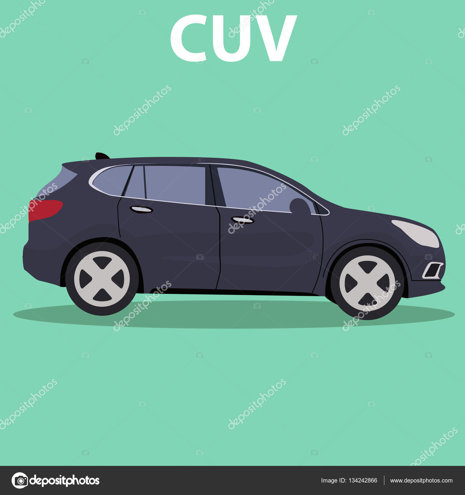 Cuv Car Car Cuv Crossover Stock Vector Royalty 134242866
