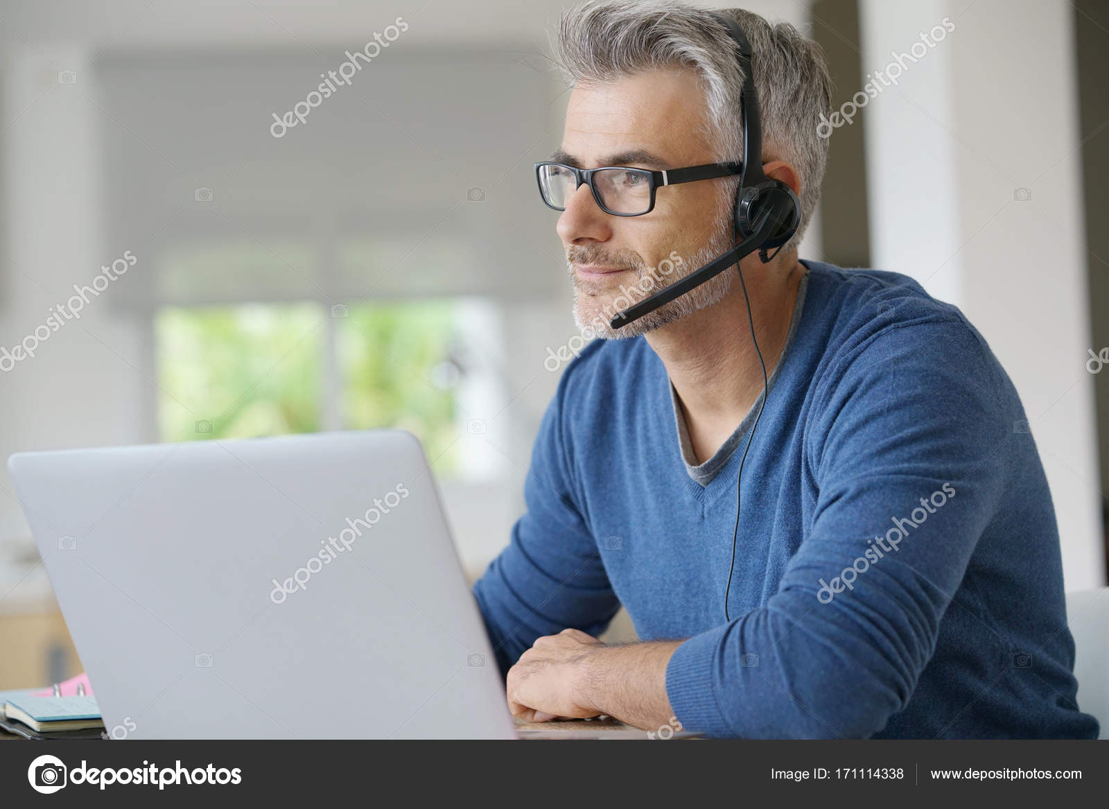 Home Office Telearbeit Sales Representative Teleworking Stock Photo Goodluz 171114338