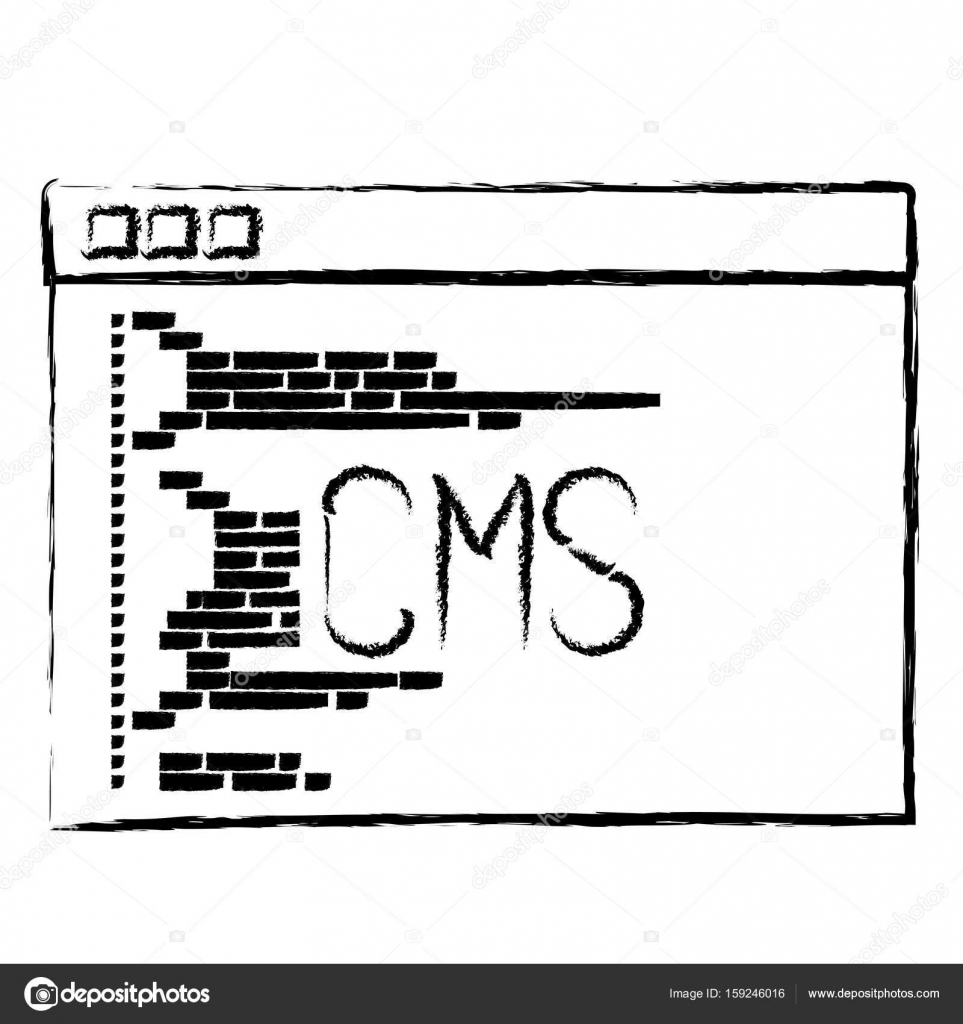 Cms Script Monochrome Blurred Silhouette Of Programming Window With Script