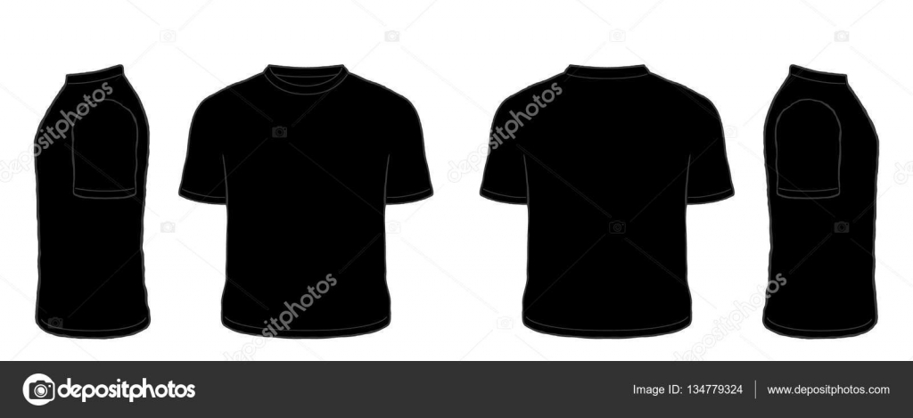 black t shirt vector - photo #22