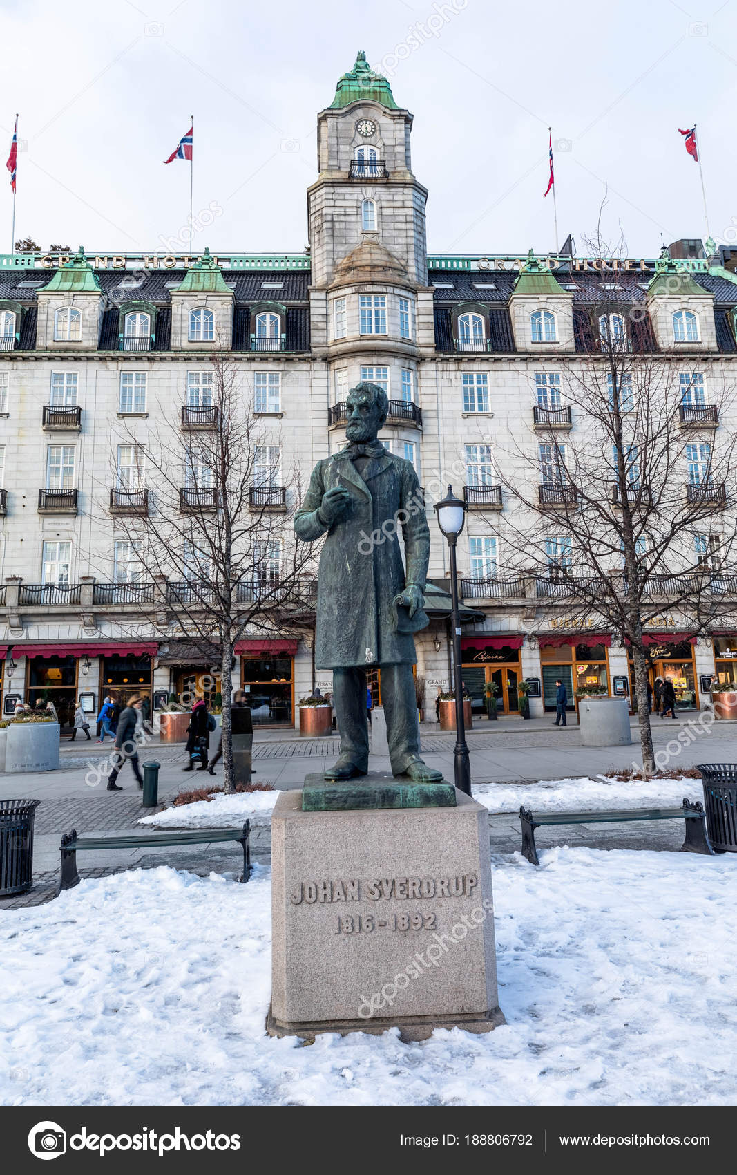 Norwegian Oslo Oslo Norway March 16 2018 Statue Of First Norwegian