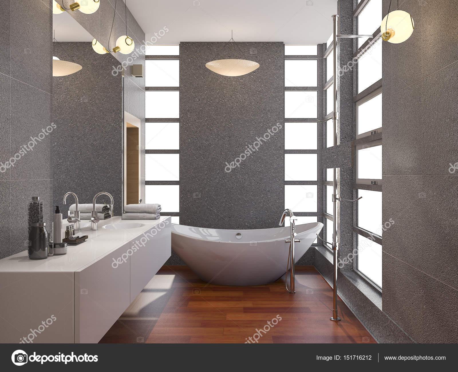 Badkamer Hout Natuursteen : Badkamer hout en natuursteen luxe badkamer met gebruik van